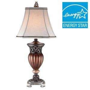 ORE International Roman Bronze Collection 32 inch Multicolored Decorative Table Lamp by