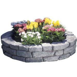 RTS Home Accents Rock Lock Raised Garden Bed, 2 Curved Pieces and 2 - 18 in. Spikes