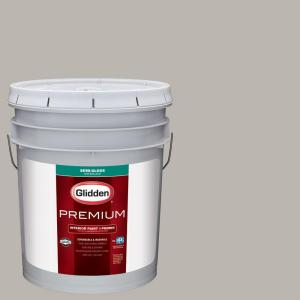 Glidden Premium 5 gal. #HDGCN50 Candlestick Silver Semi-Gloss Interior Paint with Primer by