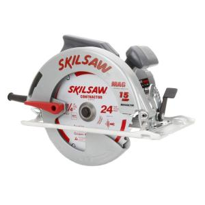 Skil 15 Amp Corded Electric 7-1/4 inch Magnesium Circular Saw with 24-Tooth Carbide Blade by