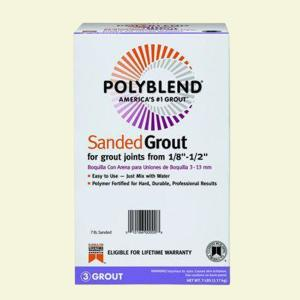 Custom Building Products Polyblend #11 Snow White 7 lb. Sanded Grout by Custom Building Products