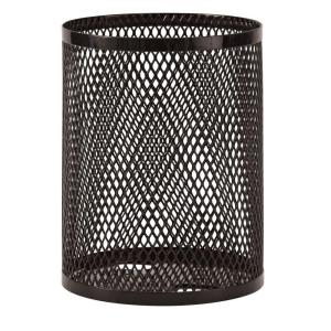 Ultra Play Commercial Park 32 Gal. Trash Receptacle- Portable, Diamond, Black