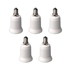 Adamax Candelabra to Standard Bulb Adapter (5-Pack)