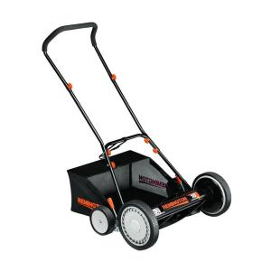 Remington 18 inch Walk-Behind Nonelectric Reel Mower with Bagger by
