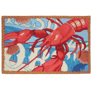 Fresh Catch Lobster Multi 1 ft. 10 inch x 2 ft. 10 inch Accent Rug
