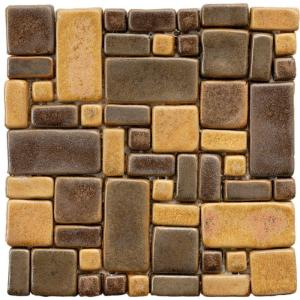Merola Tile Cobble Cimarron 12 in. x 12 in. x 12 mm Ceramic Mosaic Floor and Wall Tile