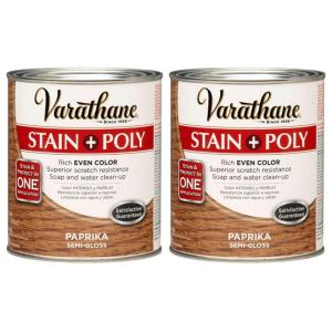 Varathane 1 Qt. Paprika Wood Stain and Polyurethane (2-Pack)