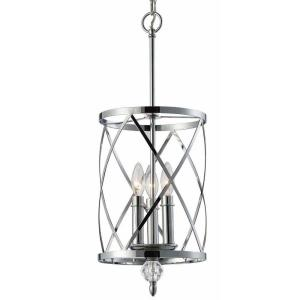 CANARM Vanessa 3-Light Chrome Chandelier by
