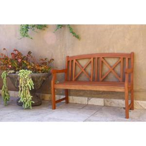 Eucalyptus 2-Seater Patio Bench by