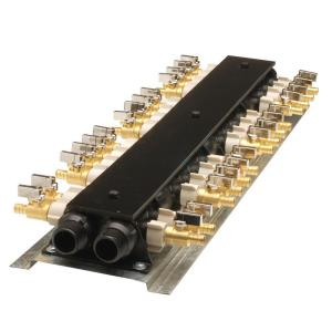 apollo 28 port pex manifold with valves 6907928cp the home depot. Black Bedroom Furniture Sets. Home Design Ideas