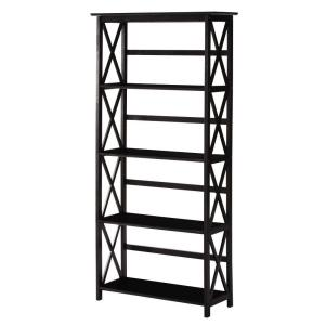 Home Decorators Collection Montego Black Open Bookcase 0218410210 The Home Depot