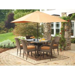 Hampton Bay Salem 7-Piece High Dining Patio Set
