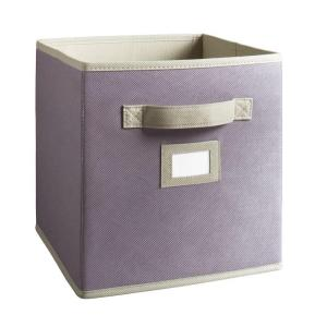 Martha Stewart Living 10-1/2 in. x 11 in. Purple Fabric Drawer