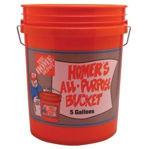 Homer Bucket 5-Gal. Orange Bucket