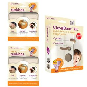 Clevamama Baby Home Safety Corner Guards and Door Cushions Set by Clevamama