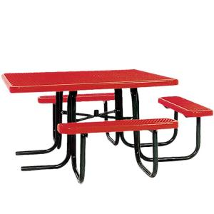 Portable Red Diamond Commercial ADA Square Picnic Table by