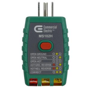 Commercial Electric Tools GFCI Outlet Tester, Green by Commercial Electric