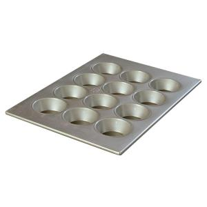 Carlisle Steeluminum 12-Cup Heavy Duty Muffin/Cupcake Pan, 4.00 oz./Cup (Case of 6) by