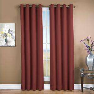 Blackout Ultimate Blackout Polyester Grommet Curtain Panel 56 inch W x 84 inch L Garnet by