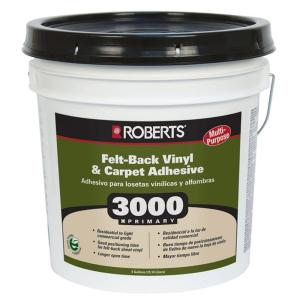Roberts 3000 4-gal. Multi-Purpose Carpet and Sheet Vinyl Adhesive and Glue