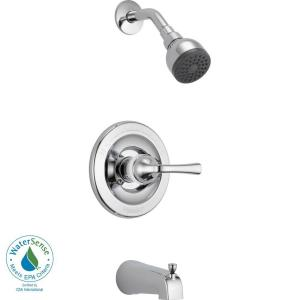 Delta Foundations Single-Handle Tub and Shower Faucet in Chrome