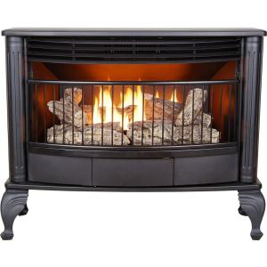 Emberglow 25 000 Btu Vent Free Dual Fuel Gas Stove With
