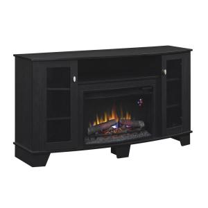 Hampton Bay Grand Haven 59 in. Media Console Electric Fireplace in Black