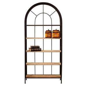 Home Decorators Collection Vintage Park 36 5 In W Rust Painted 5 Shelf Bookcase 0530500910