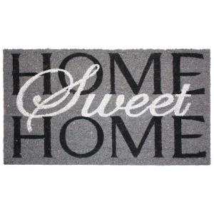 J & M Home Fashions Home Sweet Home 24 inch x 36 inch Vinyl Back Coco Door Mat