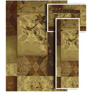 Oriental Weavers Tao Amelia Multi 4 ft. 11 in. x 7 ft. 3 Piece Rug Set