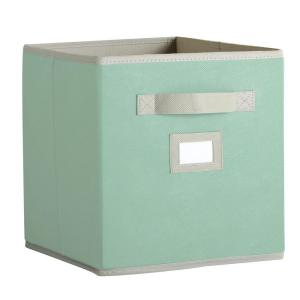 Martha Stewart Living 10-1/2 in. x 11 in. Seaglass Fabric Drawer