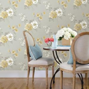 Chesapeake Keighley Grey Floral Wallpaper 3112 002758