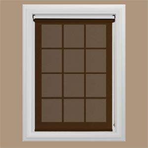 Bali Cut To Size Chocolate Uv Blocking Solar Roller Shade 35 In W X 72 In L 40 1001 03 35 72