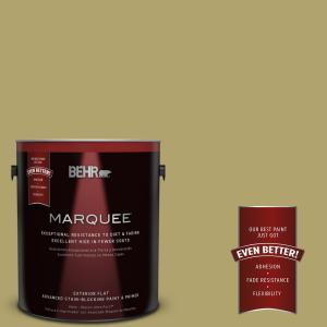 BEHR MARQUEE 1 gal. #HDC-WR15-10 Green Bean Casserole Flat Exterior Paint by