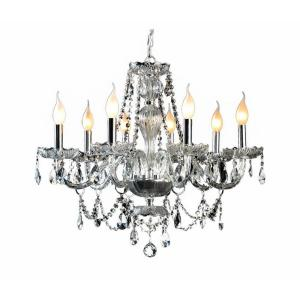 Decor Living 8-Light Crystal and Chrome Chandelier by