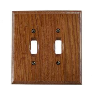 Amerelle 2 Toggle Wall Plate - Red Oak