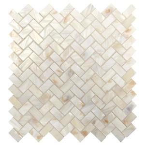 Natural Seashell Backsplash Mosaic Tile Tile The Home Depot