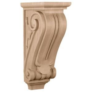 Ekena 5 in. x 8 in. x 14 in. Cherry Medium Classical Corbel