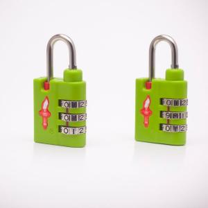 Safe Skies Aero Light Weight 3 Dial TSA Combination Lock Double Pack in Lime...