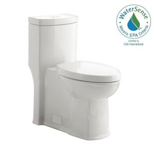 American Standard Boulevard Siphonic 1-piece Dual Flush Right-Height Elongated Toilet in White by