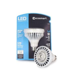 EcoSmart 15-Watt (90W) Daylight (5000K) PAR30 LED Flood Light Bulb (E)*