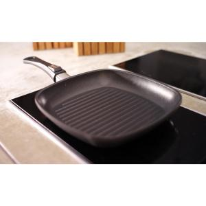Berndes Vario Click 12.25 inch Induction Square Grill Pan Without Lid Black by