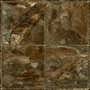 Armstrong 12 ft. Wide River Park Slate Burnt Sienna Residential Sheet Vinyl