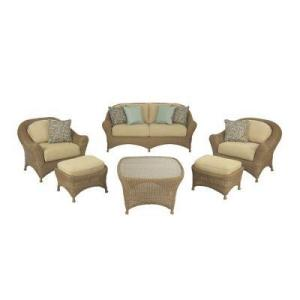 Martha Stewart Lily Bay Wicker Casual Seating Set With Sofa Chairs Sofas Seating Patio Furniture