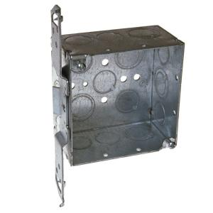 RACO 4 inch Square Welded Box, 2-1/8 Deep with 1/2 & 3/4 inch TKO