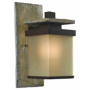 light natural slate outdoor wall lantern hdp11968 the home depot