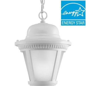 Progress Lighting Westport Collection 1-Light Outdoor White LED Hanging Lantern from Outdoor Light Sets