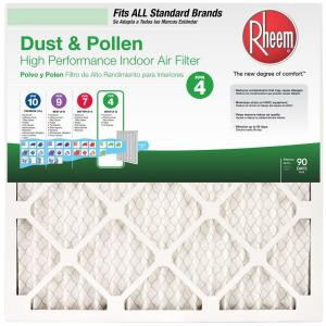 Rheem 20 in. x 25 in. x 1 in. Basic Household Pleated Air Filter