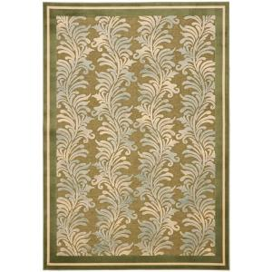 Martha Stewart Living Plume Stripe Green 5 ft. 3 in. x 7 ft. 6 in. Area Rug