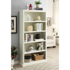 Home Decorators Collection Amelia White Open Bookcase Sk18488b The Home Depot